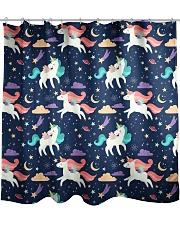 unicorn pattern Shower Curtain front