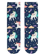 unicorn pattern Crew Length Socks thumbnail