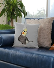 cockatiel pillow Square Pillowcase aos-pillow-square-front-lifestyle-02