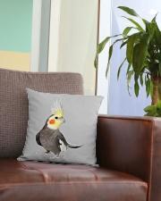 cockatiel pillow Square Pillowcase aos-pillow-square-front-lifestyle-03