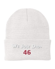 we just did 46 hat Knit Beanie thumbnail