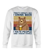 I Drink Beer I Hate People Crewneck Sweatshirt thumbnail