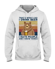 I Drink Beer I Hate People Hooded Sweatshirt thumbnail
