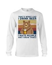 I Drink Beer I Hate People Long Sleeve Tee thumbnail