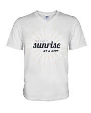 Sun rise in T-shirt america  printing  V-Neck T-Shirt thumbnail