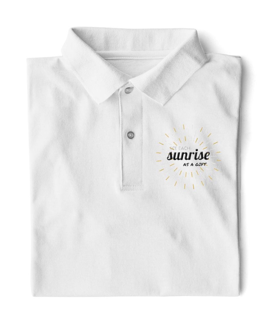 Sun rise in T-shirt america  printing  Classic Polo