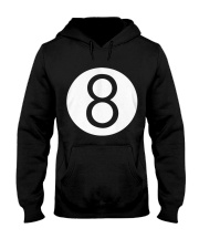8 Ball Billiards Pool Hustler Hooded Sweatshirt front