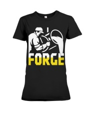 Foundry Worker Pouring Molten Metal  Premium Fit Ladies Tee thumbnail
