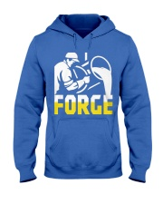 Foundry Worker Pouring Molten Metal  Hooded Sweatshirt front
