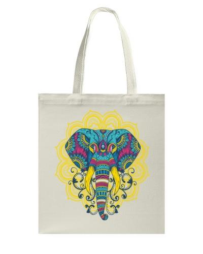 Wildlife Mammal Mammoth Colorful Elephant Mandala