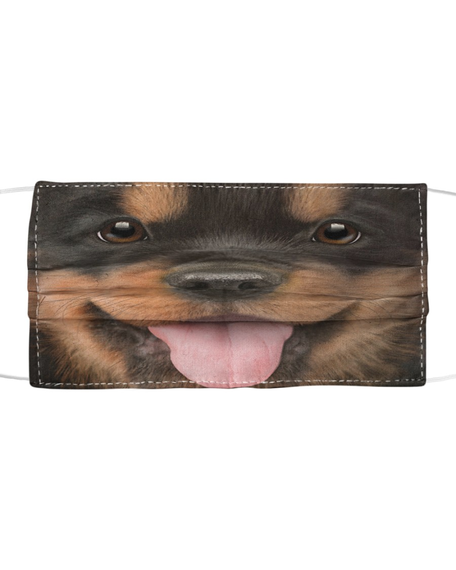 Rottweiler Puppy Cloth face mask