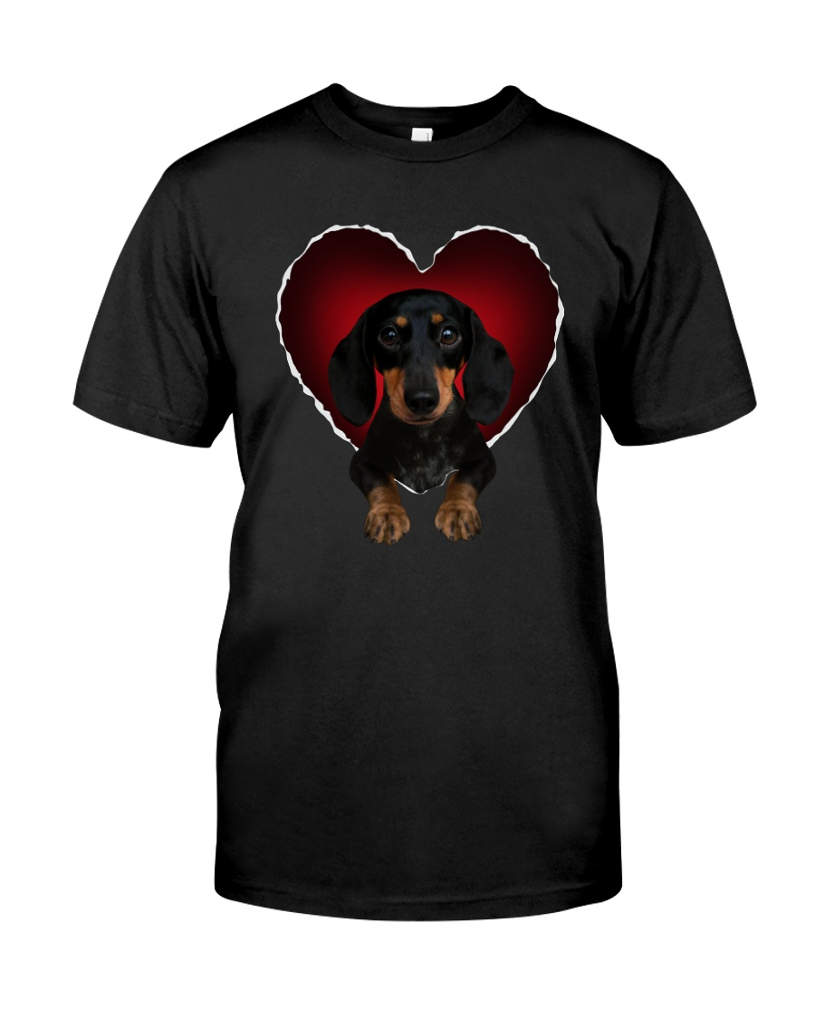 Dachshund In Heart Classic T-Shirt