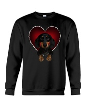 Dachshund In Heart Crewneck Sweatshirt thumbnail