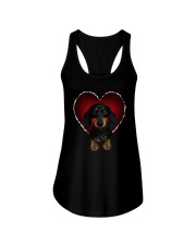 Dachshund In Heart Ladies Flowy Tank thumbnail