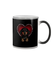 Dachshund In Heart Color Changing Mug thumbnail