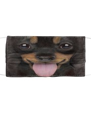 Dachshund Puppy Cloth face mask front