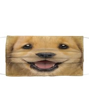 Golden Retriever Puppy Cloth face mask front