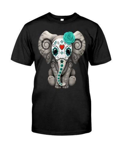Blue Sugar Skull Elephant