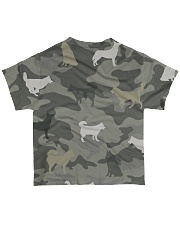 Siberian Husky Camouflage All-over T-Shirt back