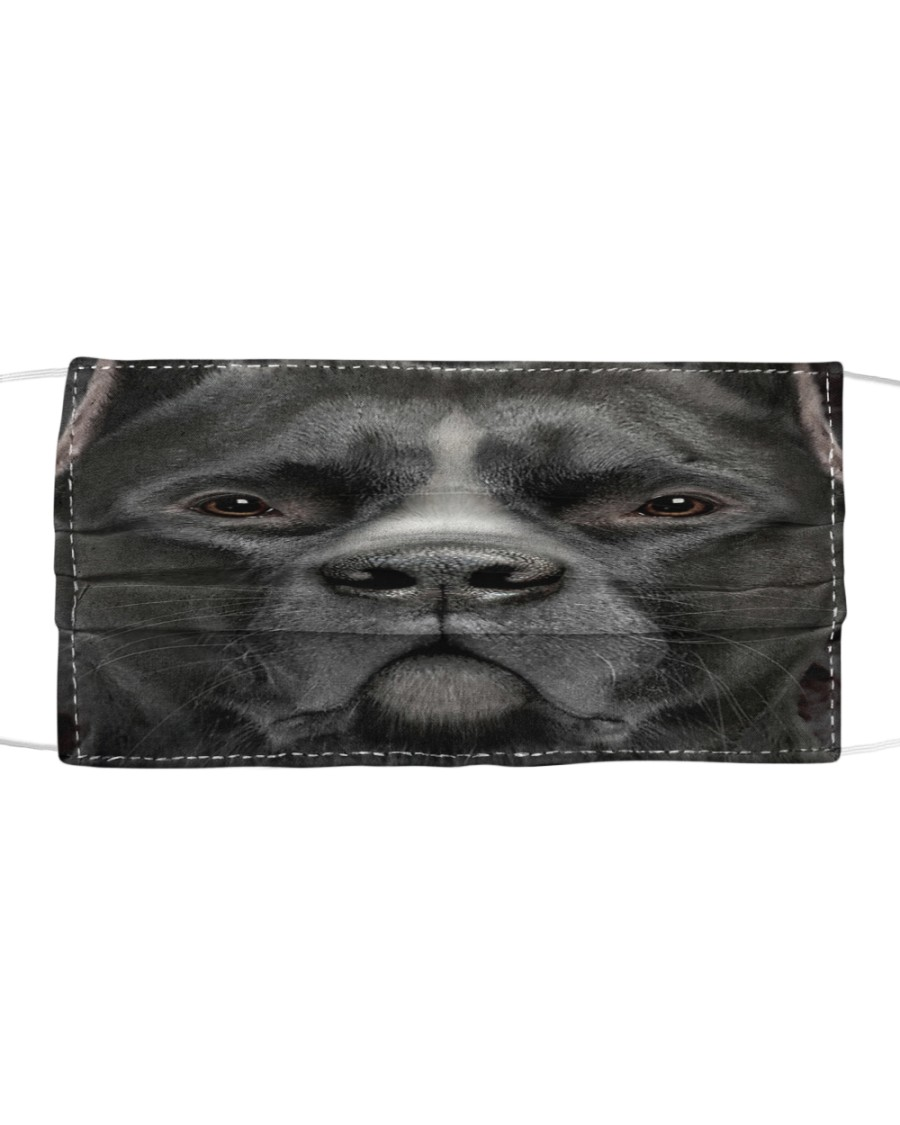 Black Pitbull Cloth face mask
