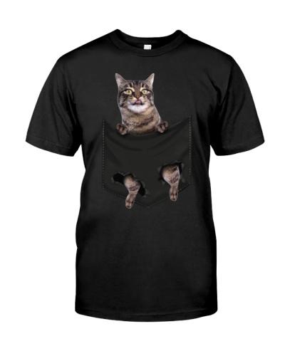 Manx Cat In Pocket Mid