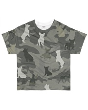 French Bulldog Camouflage All-over T-Shirt front