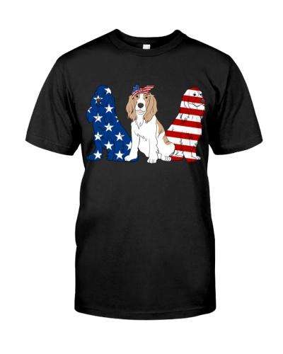 Cocker Spaniel American Flag