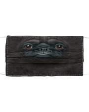 Pug Black Cloth face mask front