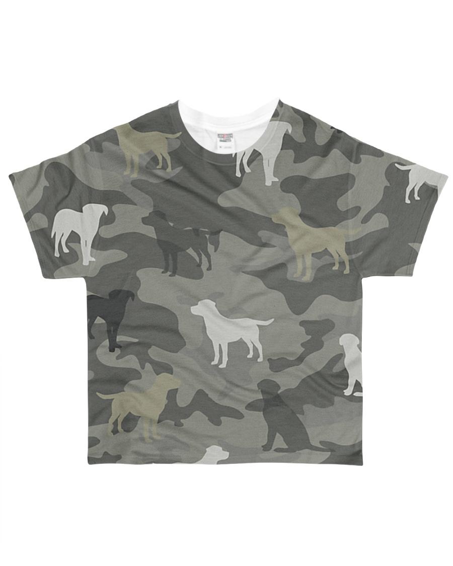 Labrador Retriever Camouflage All-over T-Shirt