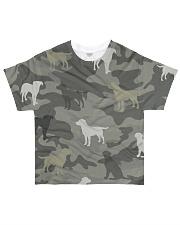 Labrador Retriever Camouflage All-over T-Shirt front