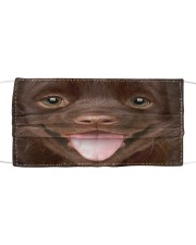 Chocolate Labrador Puppy Cloth face mask front