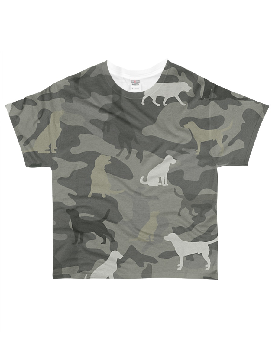 Golden Retriever Camouflage All-over T-Shirt