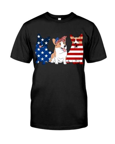 Corgi American Flag