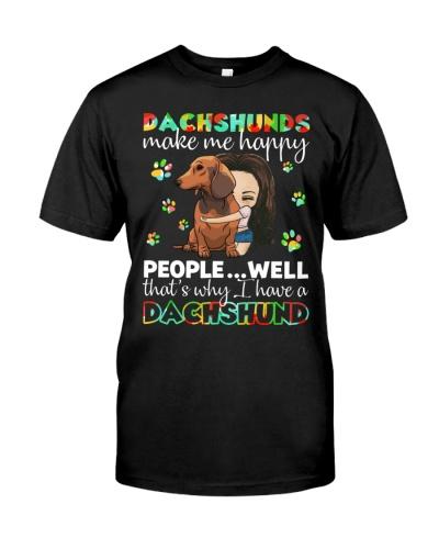 Dachshunds make me happy