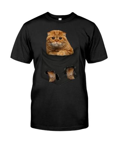 Scottish Fold Cat 01 In Pocket Mid
