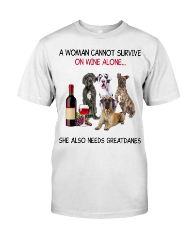 A Woman Cannot Survive Great Dane