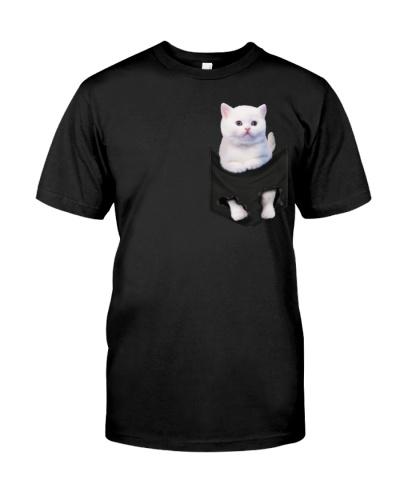 White Cat In Pocket