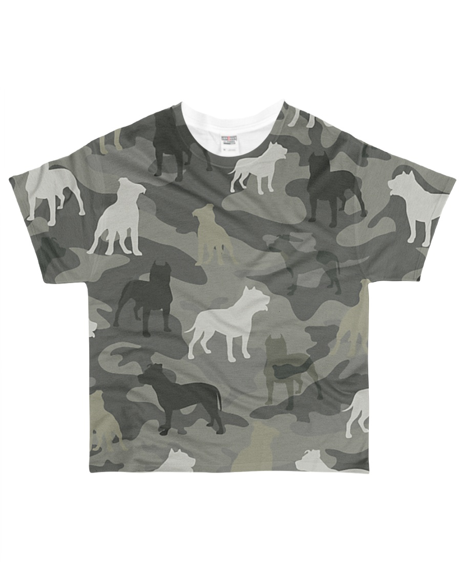 American Pit Bull Terrier Camouflage All-over T-Shirt