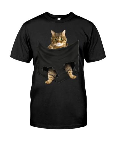 Tabby Cat In Pocket Mid