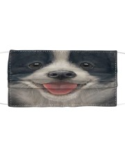 Border Collie Cloth face mask front