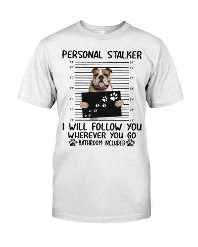 English Bulldog Personal Stalker