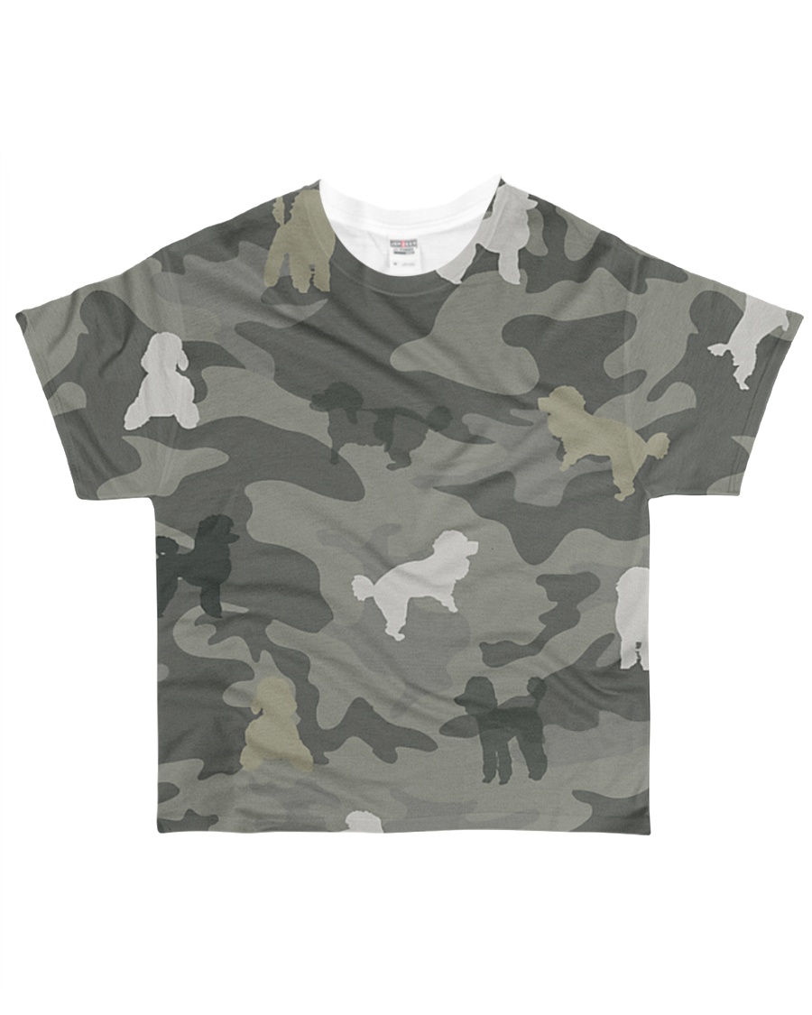 Poodle Camouflage All-over T-Shirt