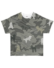 Poodle Camouflage All-over T-Shirt front