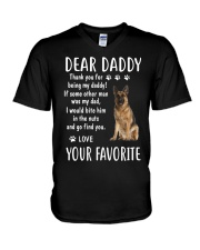 Dear Daddy - Your Favorite - Dog V-Neck T-Shirt thumbnail