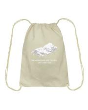 The Mountains Are Calling Drawstring Bag thumbnail