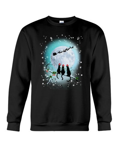 Black Cat Night Christmas