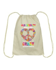 Old hippie don't die Drawstring Bag thumbnail