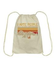 I hate people CP01 Drawstring Bag thumbnail