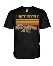 I hate people CP01 V-Neck T-Shirt thumbnail
