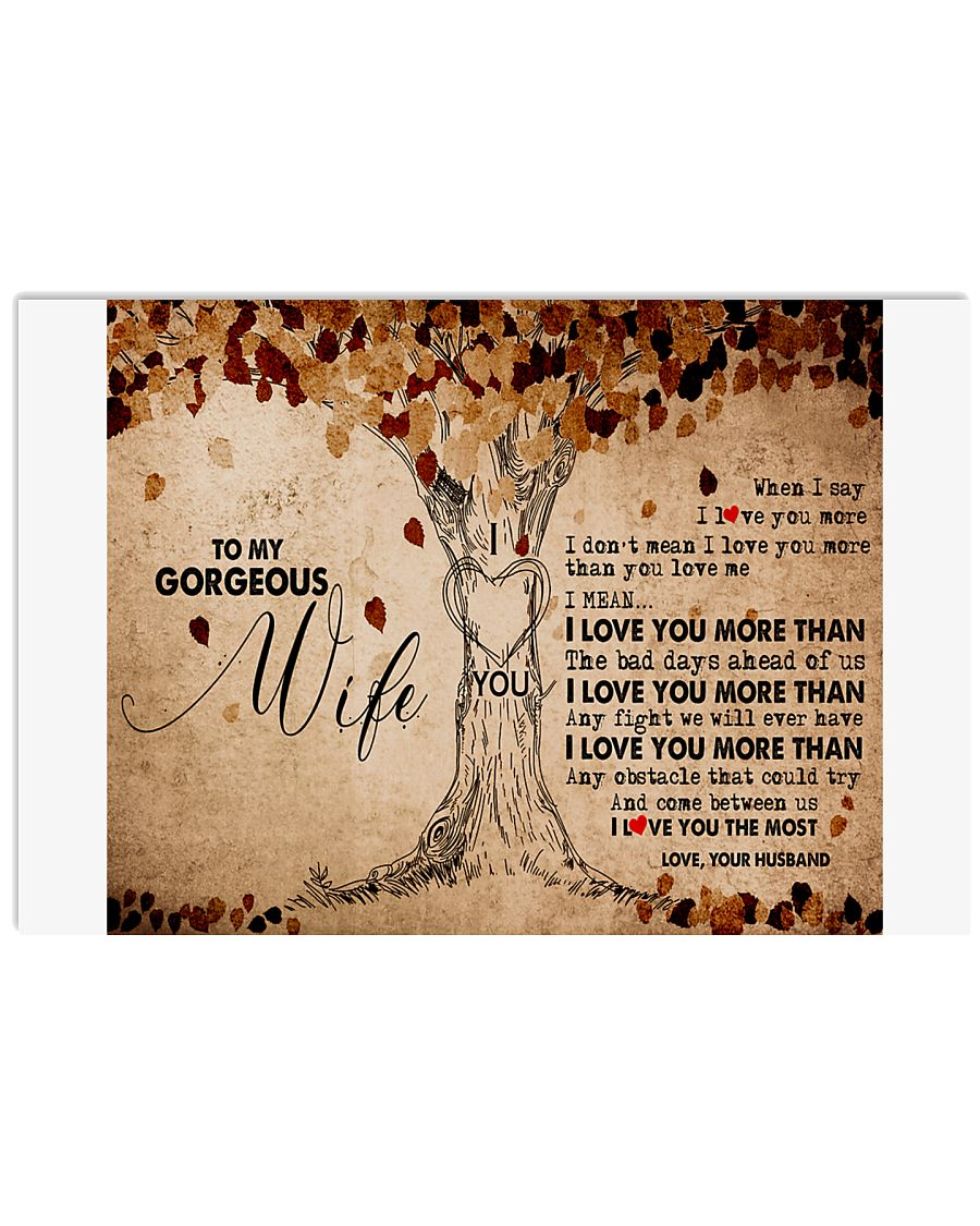 TO MY GORGEOUS WIFE B01 17x11 Poster